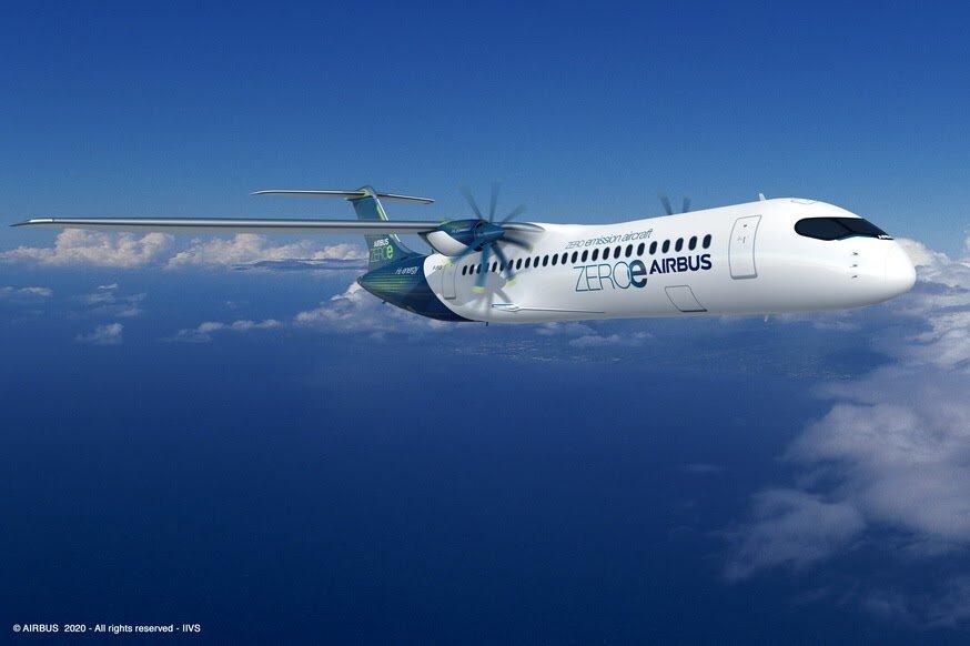 Airbus revela voos com emissões zero em 2035